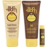 Sun Bum Premium Day Tripper Travel-Sized Sun Care Pack, SPF 30, Sunscreen, Lip Balm Sunblock, After Sun Lotion, Hypoallergenic, Paraben Free, Packaging May Vary