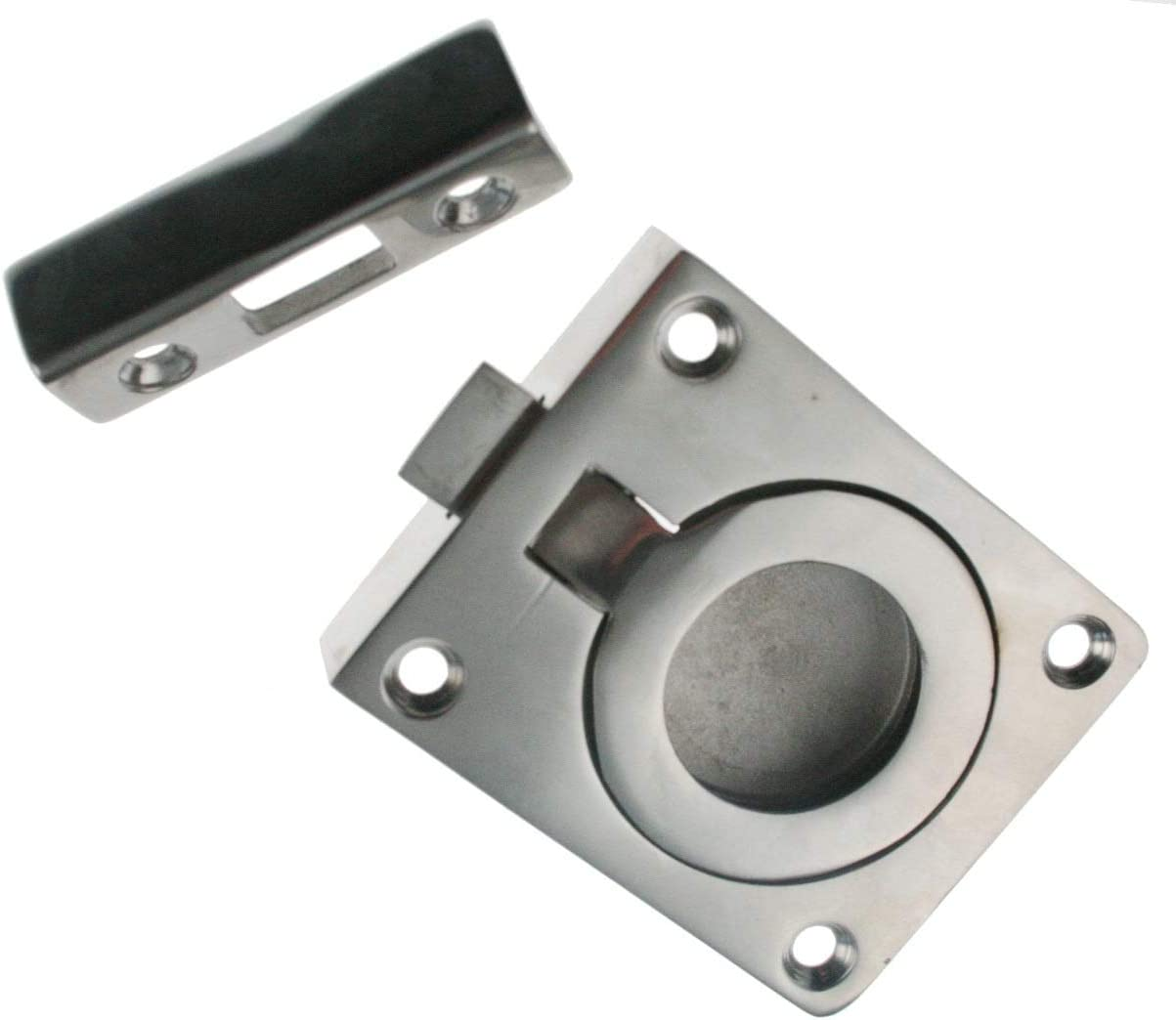 ARBO-INOX 007100 Bodenheber mit Schloss Verschluss Edelstahl 45mm
