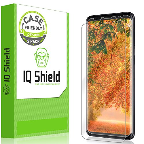 Galaxy S9 Plus Screen Protector [2-Pack], IQ Shield LiQuidSkin Screen Protector for Galaxy S9 Plus [Case Friendly Version 2] HD Clear Anti-Bubble Film