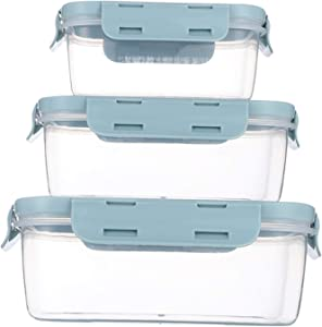 Food Storage Containers with Airtight Lids - Food Prep Containers Meal Prep - Lunch Containers with Lids - Meal Prep Containers -Microwave, Stackable (blue)