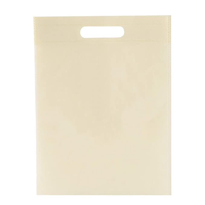 EUROFIDES® 100 Shopper borse TNT manico fustellato a fagiolo cm.30x45 colore rosso