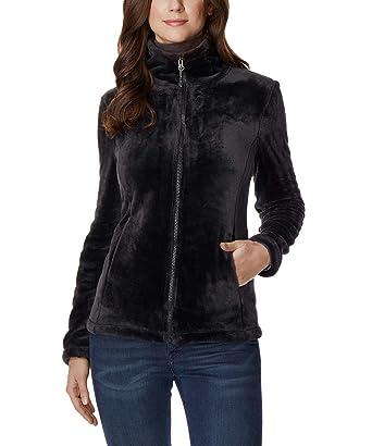 4a0edadc4b7 32 DEGREES Women s Plush Faux Fur Full Zip Jacket at Amazon Women s ...