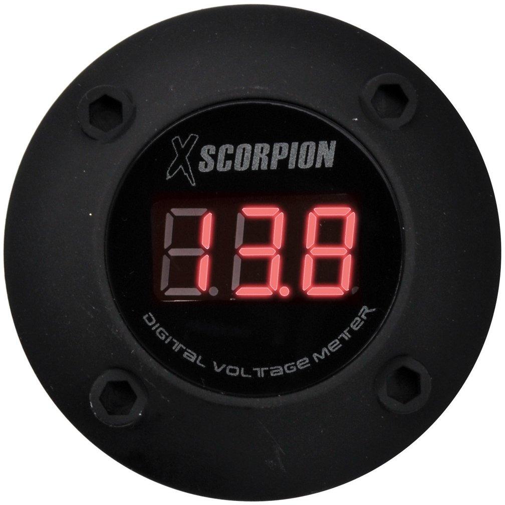 Voltmeter Gauge, Black Voltage Meter Red Led Car Digital Voltmeter Gauge