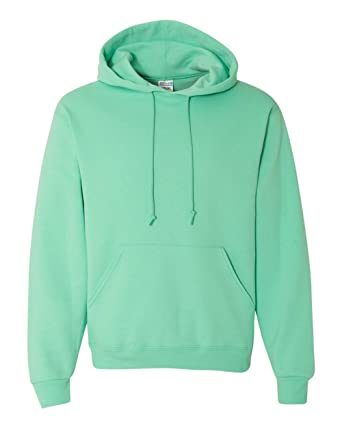 fashionable style cheap clear-cut texture Jerzees Mens NuBlend Pull Over Hooded Sweatshirt, JZ996MR, L, Cool Mint