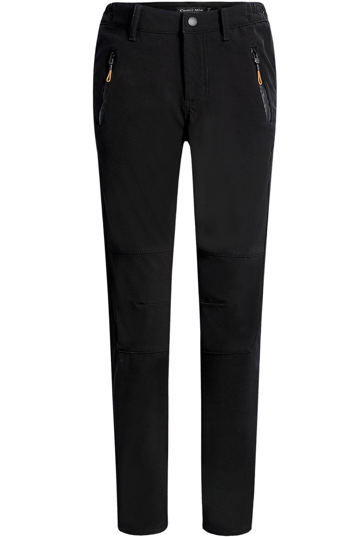 Camii Mia Women's Windproof Waterproof Sportswear Outdoor Hiking Fleece Pants (W32 x L32, Black) by Camii Mia