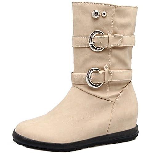 COOLCEPT Botas sin Cordones para Mujer: Amazon.es: Zapatos y complementos