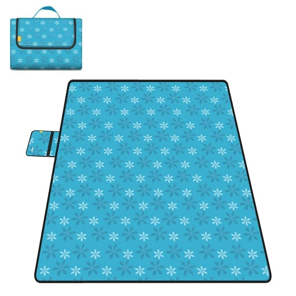 ZKKWLL Picnic Blanket Outdoor Picnic Blanket Picnic mat Moisture-Proof Carpet Padded pad Oxford Cloth Lawn mat Portable Picnic Cloth pad Beach Camping Trip Beach mat (Color : A) by ZKKWLL