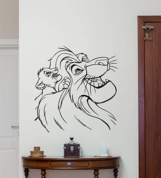 pegatina de pared frases Lion King Tatuajes de pared Dibujos ...
