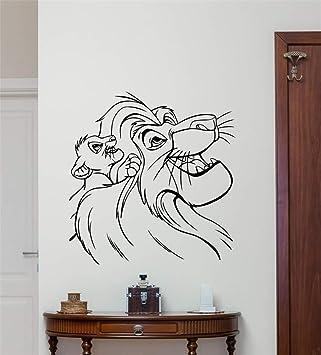 Etiqueta De La Pared Etiqueta Del Rey León Lion King Tatuajes De ...