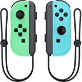 Wireless Switch Joycon Controllers, D.Gruoiza Joy Con Controller Compatible for Switch Support Wake-up Function with Wrist St