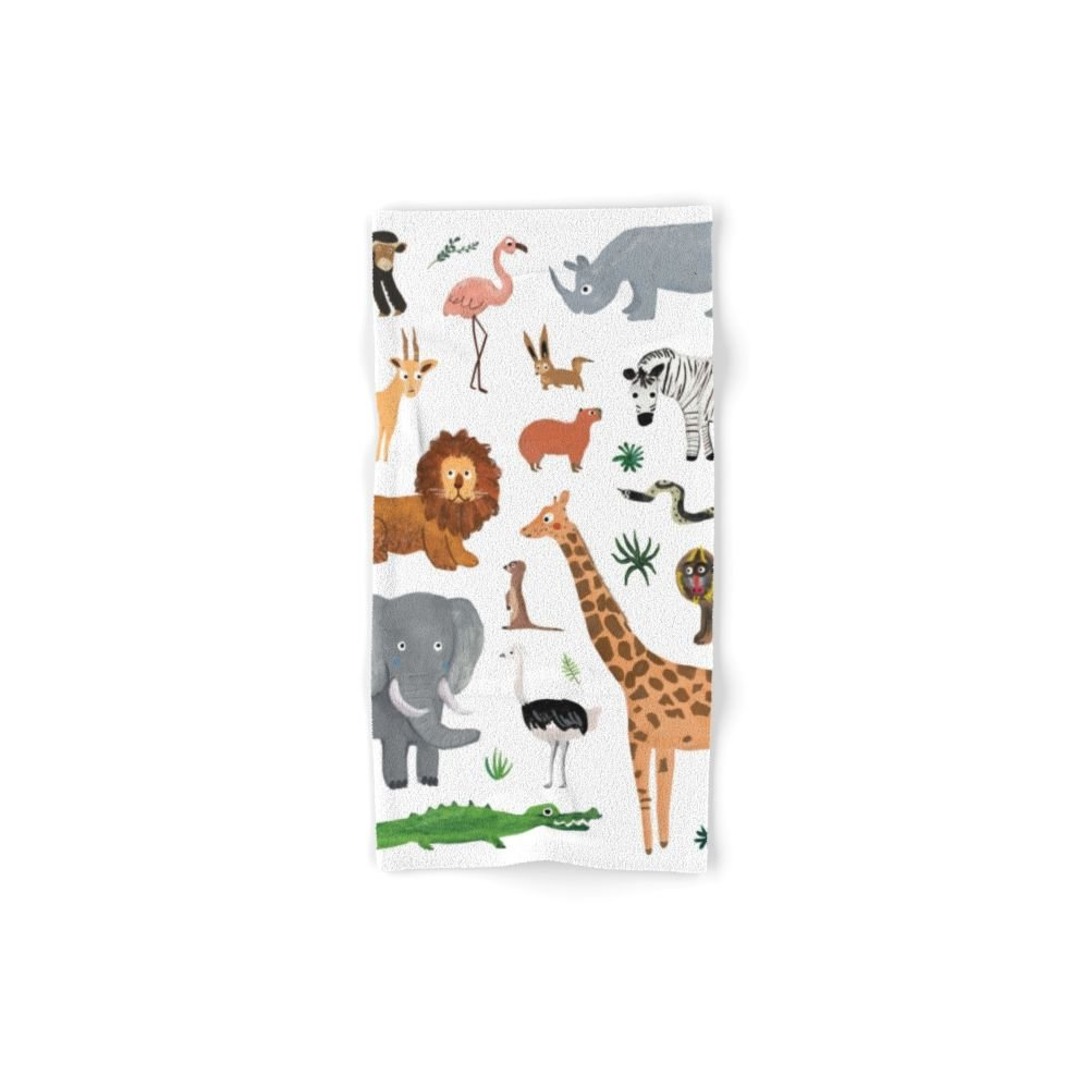 Society6 Safari Animals Hand Towel 30''x15''
