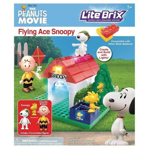 Cra-Z-Art Lite Brix The Peanuts Movie Flying Ace Snoopy Building Set (Snoopy Flying Ace Figure compare prices)