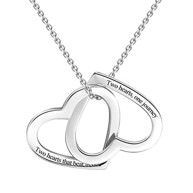 22a2c68bdff8 SOUFEEL Collar   Única Corazón   Plata de Ley Colgante Nombre  Personalizados Joyería para