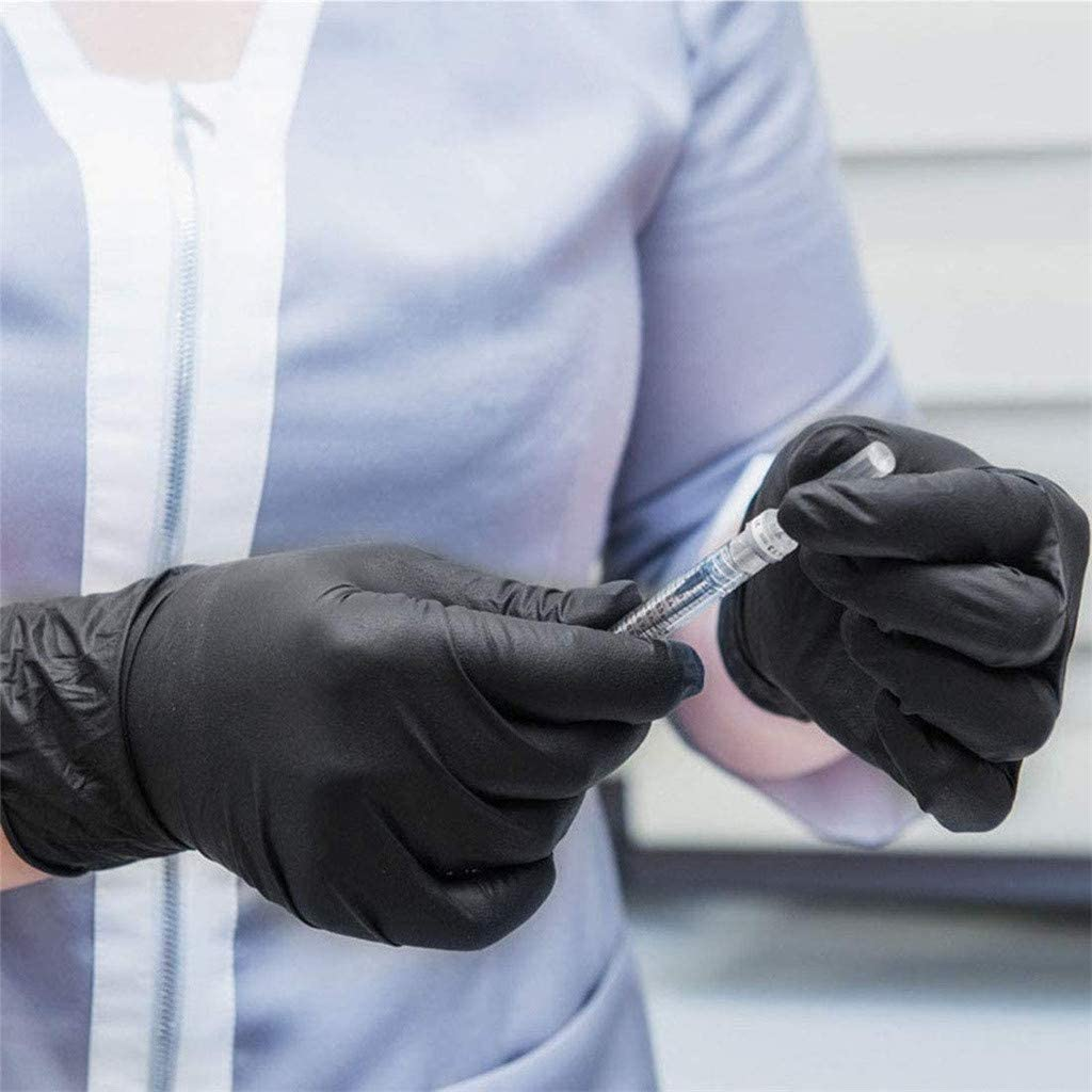 Safety Nitrile Exam Gloves,50 Pcs Comfortable Protective Gloves Latex Free Blue M Powder Free