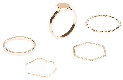 Kreis Ring in Rosegold Geometrischer Ring Rund Stapelring Edelstahlschmuck