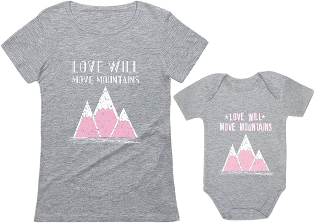 Love Will Move Mountains Camping Mommy & Me Gifts Mother & Baby Matching Set