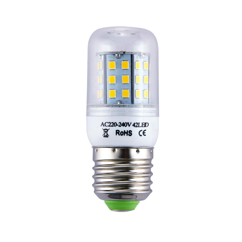 Liqoo® 5 unidades 3W 4W E27 Lámpara LED bombillas bombilla de la lámpara ahorro de energía AC 230V, ángulo de visión de 360 °, 240-320 lúmenes, ...