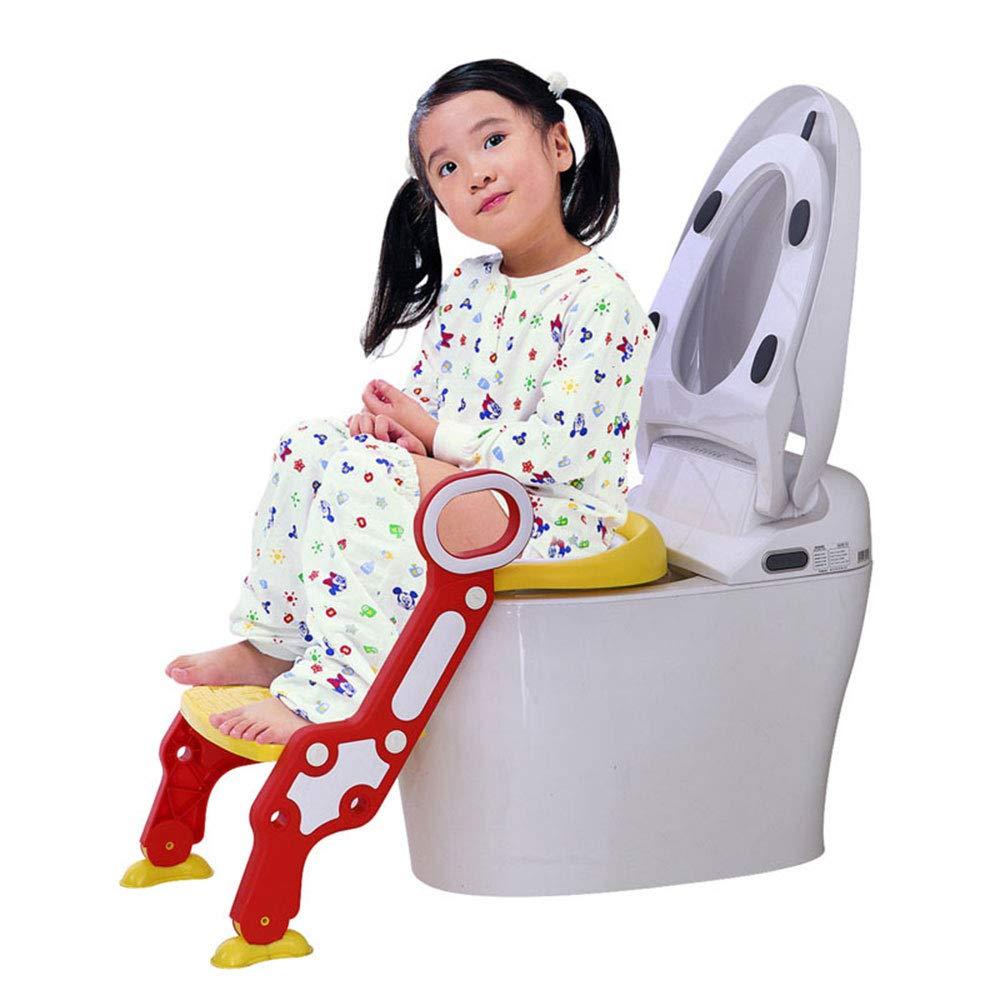 WESEASON Toilet Ladder Potty Training Seat Child Potty Non-Slip with Splash Guard Toilet Seat for Boys and Girls Portable Toilet Seat for Children Aged 1-7 Non-Slip