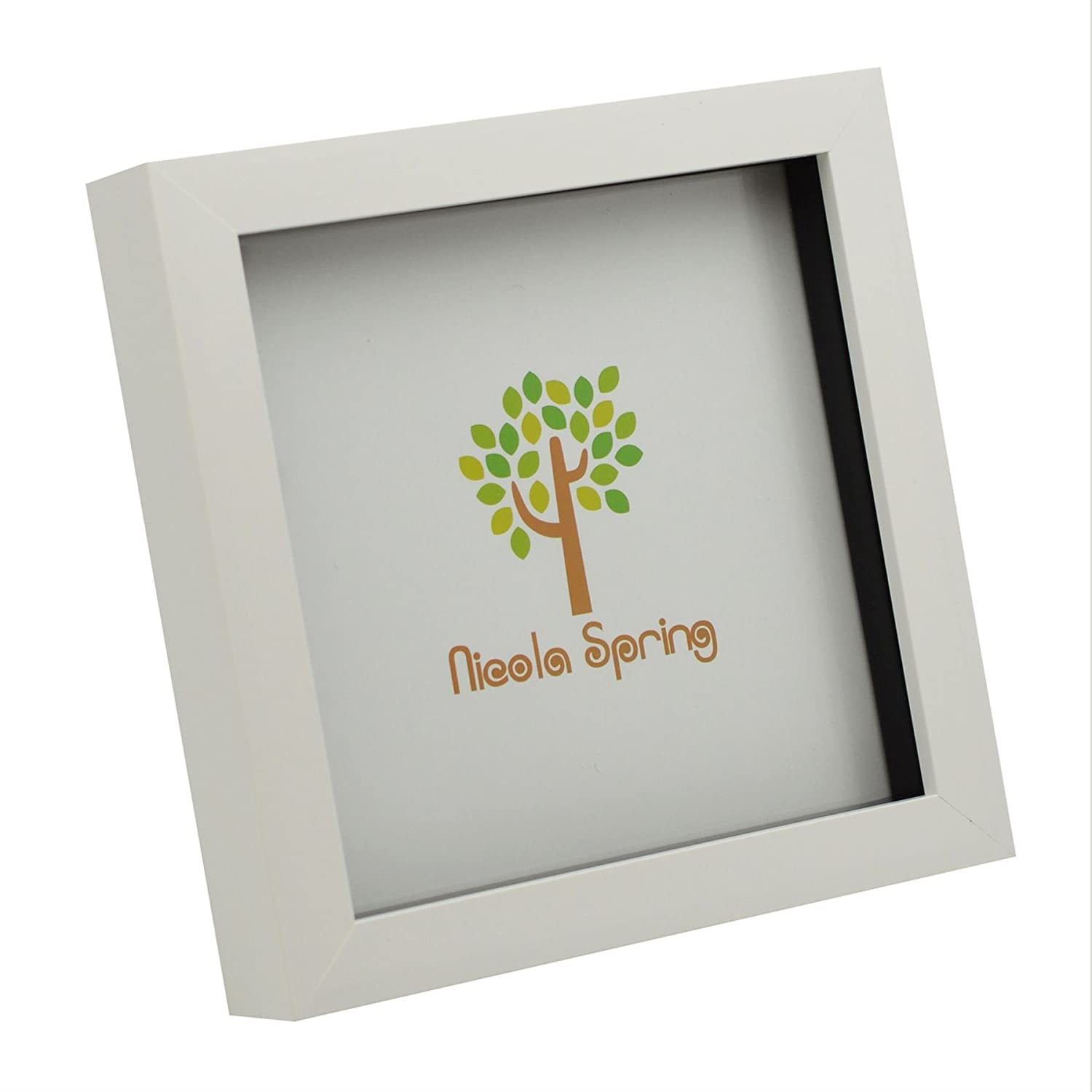 White 6x6 Box Photo Frame - Standing & Hanging Nicola Spring