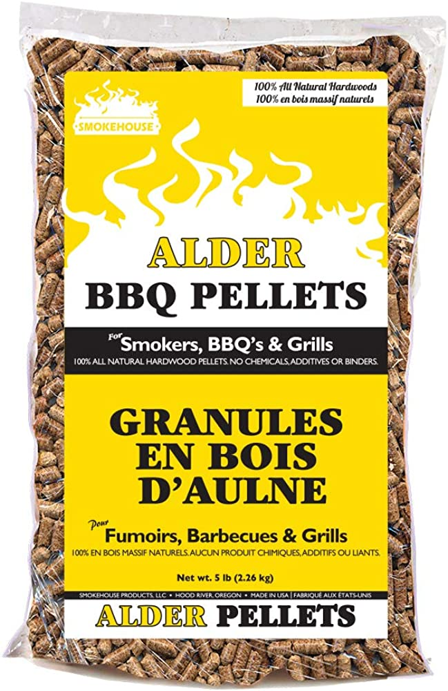 Smokehouse Products BBQ Pellets All Natural Hardwood Flavors, 5LB Bag
