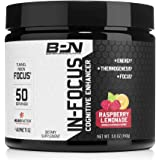 Bare Performance Nutrition | in-Focus Cognitive Enhancer | Thermogenic, Nootropic & Energy (50 Servings, Raspberry Lemonade)