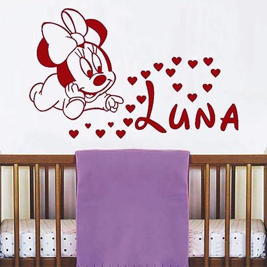 nidense Cute Lovely Mouse Hearts Vinilo Etiqueta de la pared para ...