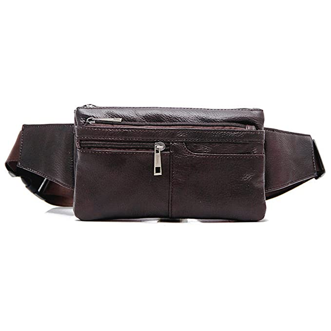 0451d162bf91 Unisex Genuine Leather Waist Pack Soft Fanny Sling Bag Belt Pouch by AoMagic
