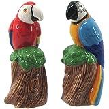 Chesapeake Bay Ceramic Tropical Bird Design Salt and Pepper Set 68695 4.75 Inches x 2 Inches x 2 Inches