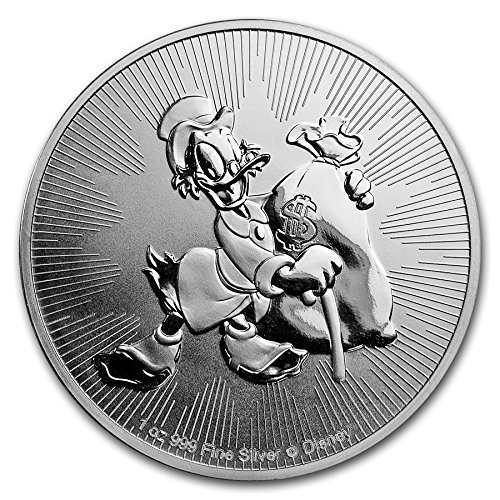 2018 NZ New Zealand Niue Donald Duck's rich uncle Scrooge McDuck - 1 oz pure Silver Coin - Part of the Disney...