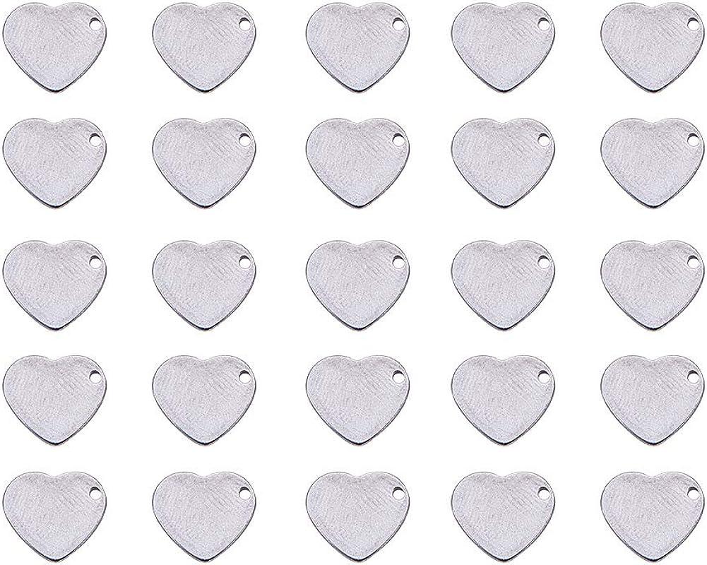 Pandahall Elite 120 un Acero Inoxidable 304 conjuntos de colgantes de Etiqueta en Blanco Para Estampar