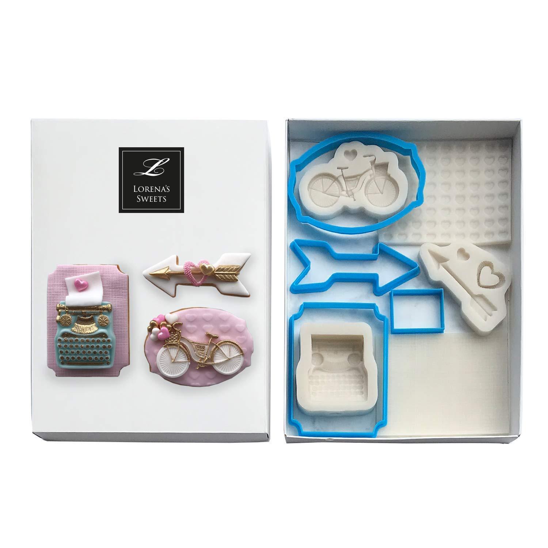 Lorena's Sweets Fondant Cookie kit Assortment Valentine's Pink