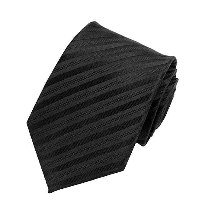 0eb75076cedc MENDENG Classic Black Red Striped Tie Woven Jacquard Silk Men Suits Ties  Necktie: Amazon.ca: Clothing & Accessories