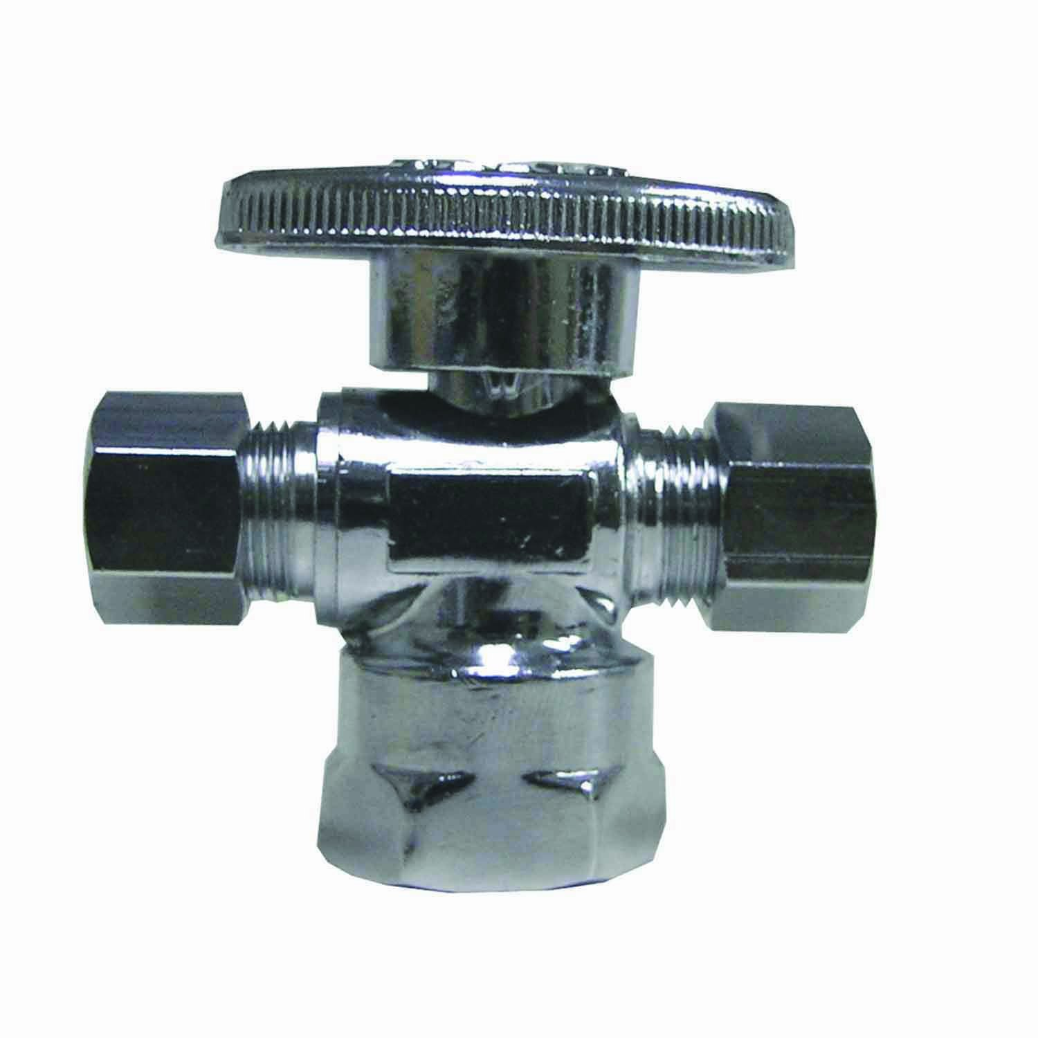 watts lfpbqt113 quarter turn 3way valve 12inch fip by 38inch comp by 38inch comp pipe fittings amazoncom