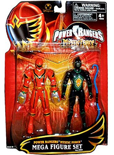 Amazon.com: Power Rangers Mystic Force Mega Action 2 Figure ...