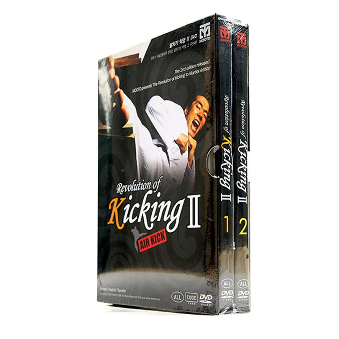 Mooto Korea Taekwondo DVD Title Revolution of Kicking 2-Air Kick_DVD MMA TKD Martial Arts Match Judo Karate Gym Academy Kicking Training by Mooto