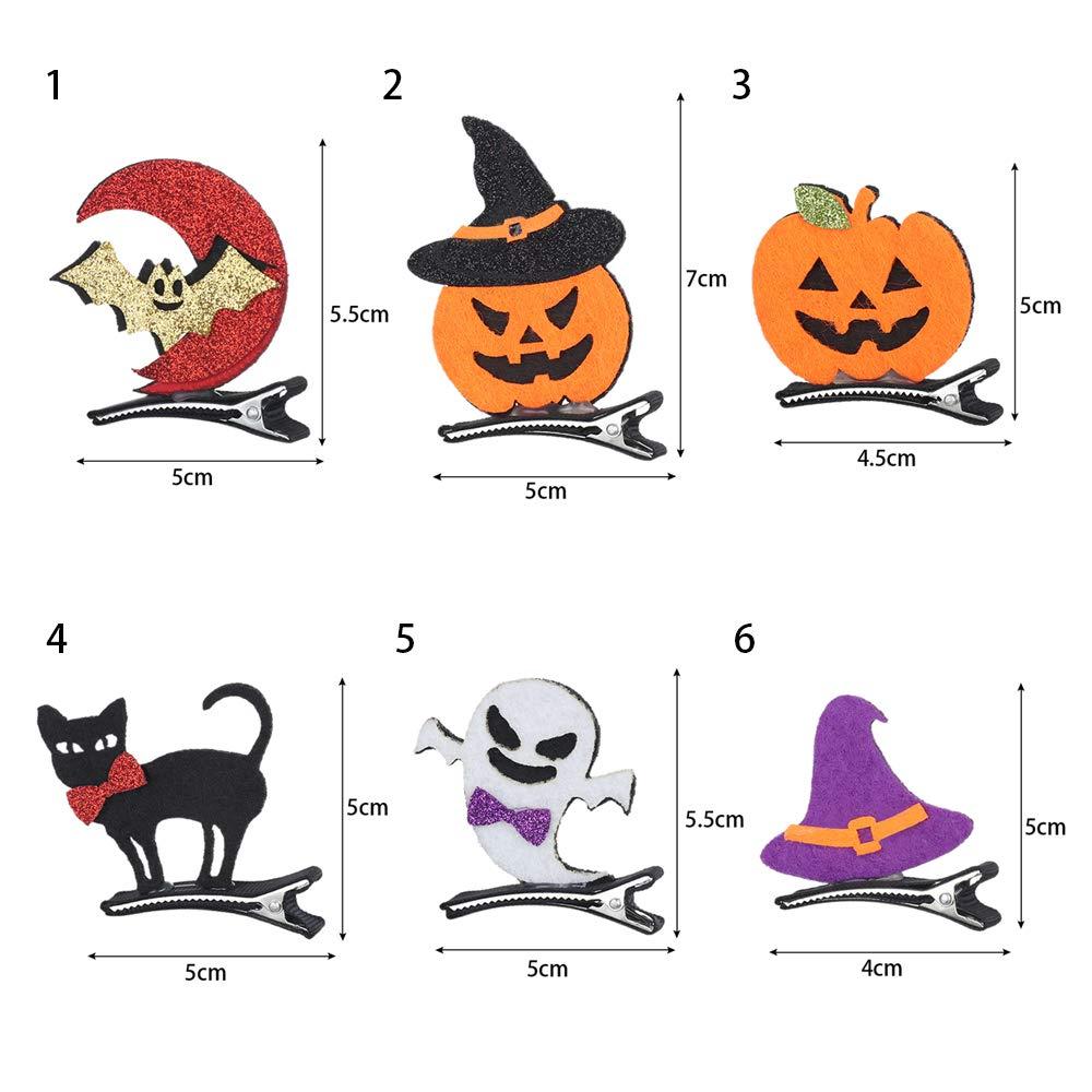 Details about  /Children/'s Halloween Hair Clips Hairpin Pumpkin Bat Ghost Cat Accessories YD