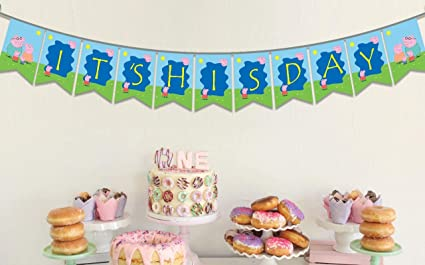 Amazon.com: Ideas from Boston- Peppa Pig Banner, ITS HIS ...