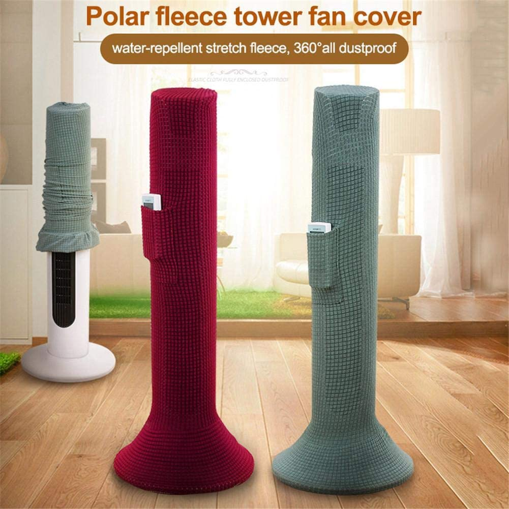 Tower Fan Dust Cover and Protective Cover 80-120cm H Compatible with Most Tower Fans Washable Dustproof Standing Fan Cover with Pocket Fully Enclosed Stretch Fan Dust Guard
