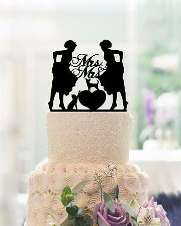Amazon mrs and mrs cake topper lesbian wedding cake toppers 2 mrs and mrs cake topper lesbian wedding cake toppers 2 brides wedding cake toppers for cake junglespirit Choice Image