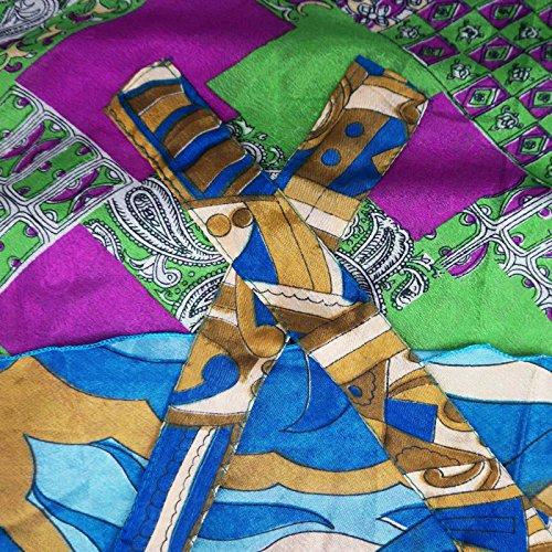 Reversibles vestido de poliéster magia Wrap falda de las mujeres más el tamaño del tubo largo sarong Multicolor