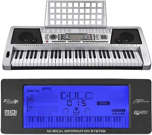 Yescom teclado del piano digital portátil de 61 teclas con ...