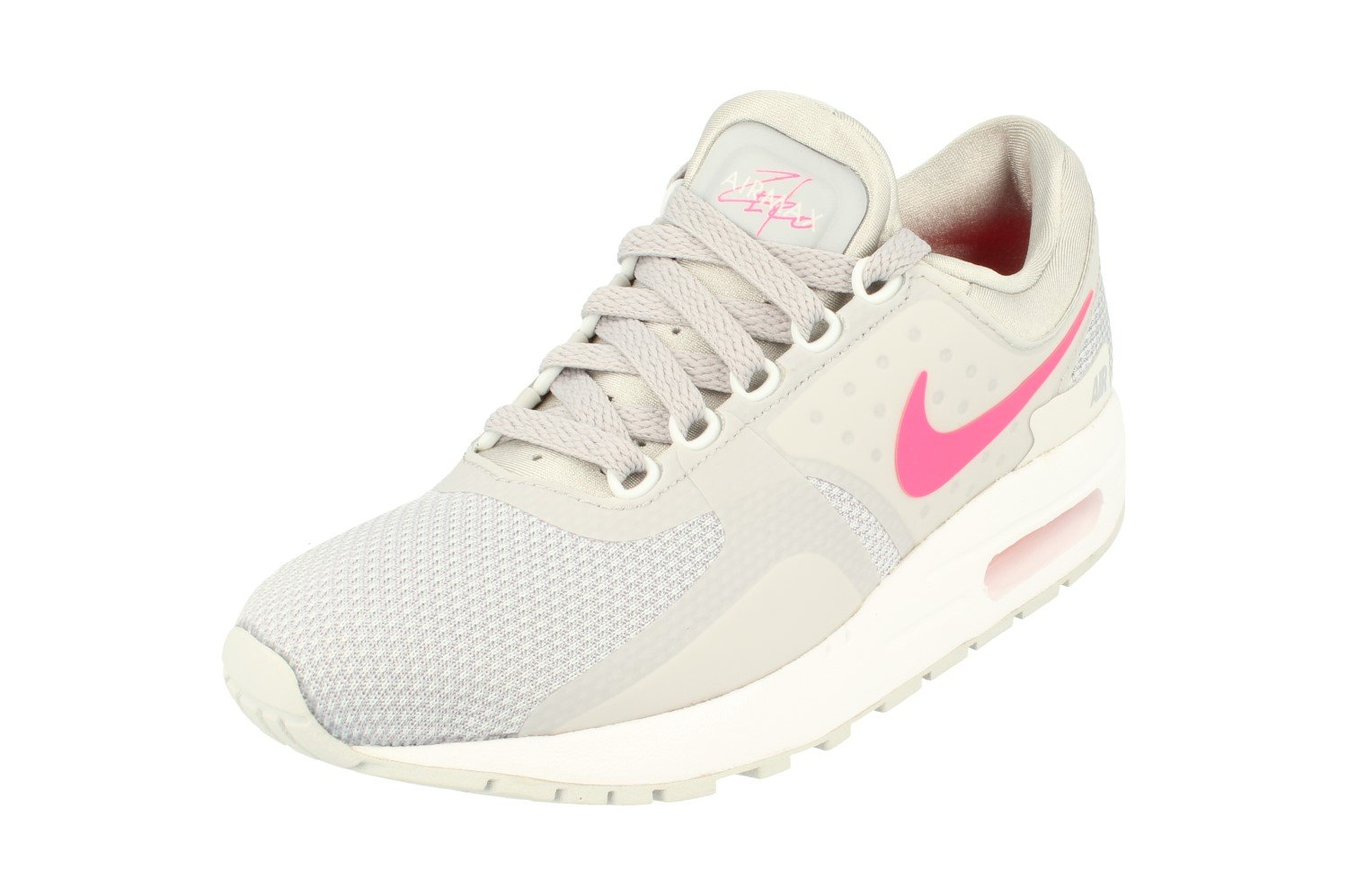 Nike Grade-School Air Max Zero Essential Wolf Grey/Racer Pink-White 881229-003 Shoe 3.5Y M US Youth