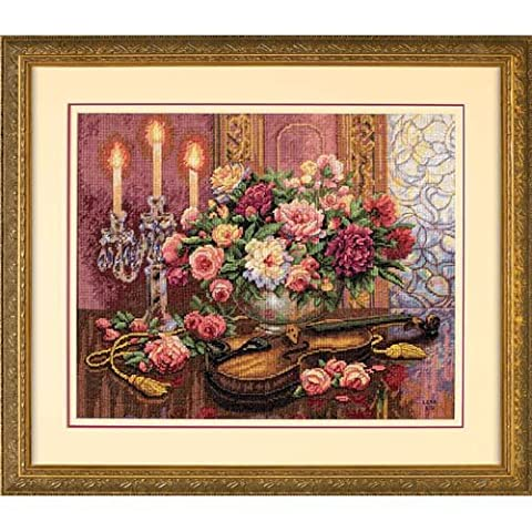 Gold Collection Romantic Floral Counted Cross Stitch Kit (16
