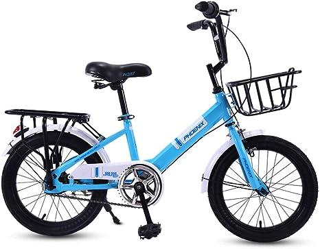 Bxiao Bicicleta para niños de 16 Pulgadas, Carro de Escuela ...