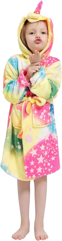 Accappatoio Unicorno Bambina Coperta Flanella Morbido Caldo Pigiama Asciugamano Animali da Bagno Wrap Poncho con Orecchie Kimono Loungewear Vestaglia da Notte Regalo di Hallloween Natale Compleanno