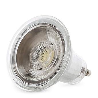 Greenice | Bombilla de LEDs COB GU10 7W 550Lm 30.000H | Blanco Cálido