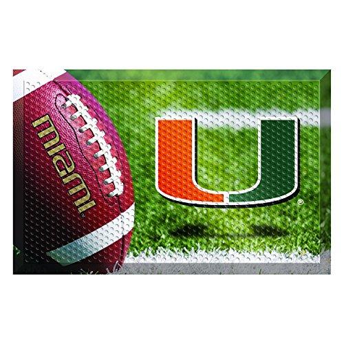 NCAA University of Miami Hurricanes Shoe Scraper Door Mat