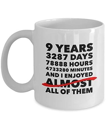Amazoncom Funny 9th Anniversary Mug Pottery Wedding Day 9 Years