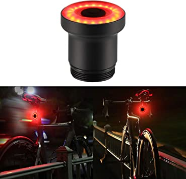 NEW Bicycle Light Tail Light Rechargeable Bike Rear Lights USB Powerful Lamp 1PC