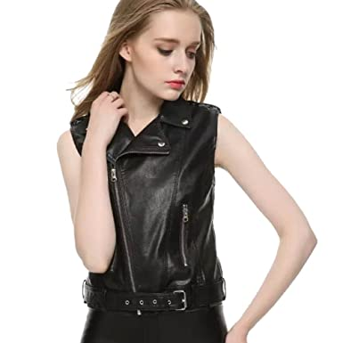 big discount sale buying cheap new high quality YOUJIA Womens Slim Lapel Faux Leather Vest Waistcoat Zip Up ...